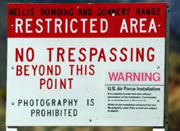 Area 51 sign in Nevada