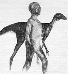 Illustration of Dinosaur Man