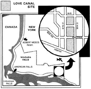 Map of the infamous Love Canal