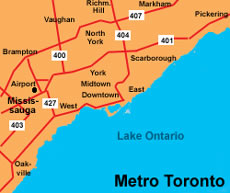 Great Toronto Area map