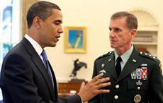 Barack Obama with Stanley Mcchrystal