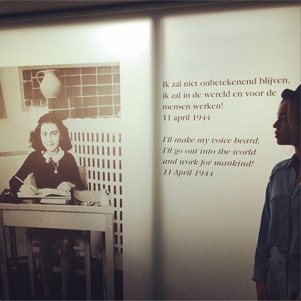 Beyonce visits Anne Frank house in Amsterdam : The ...