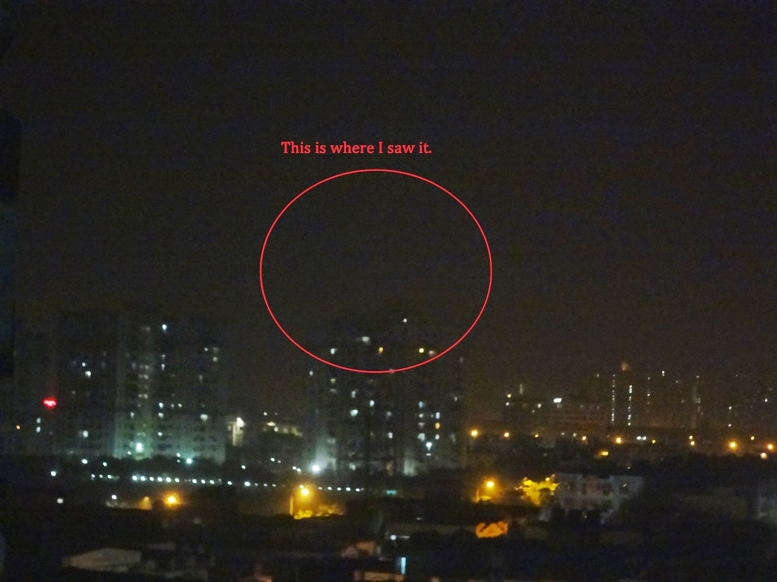 In this report, Scott Waring has published images of the UFO, along