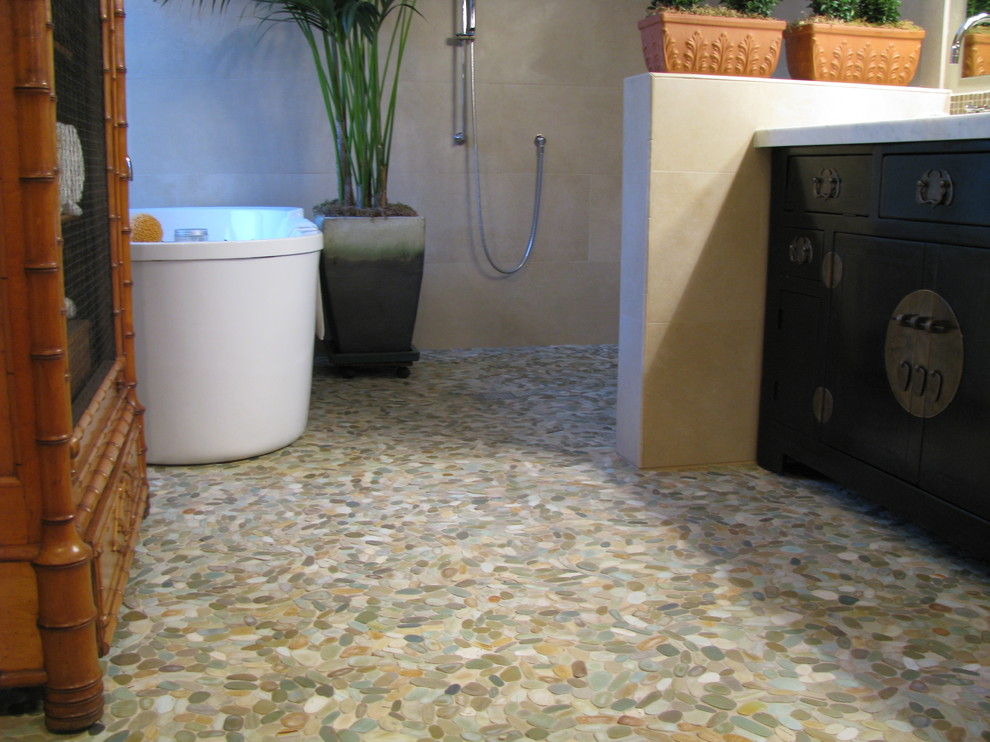 pebble flooring bathroom green and clean eco friendly bath floors the canadian 13933