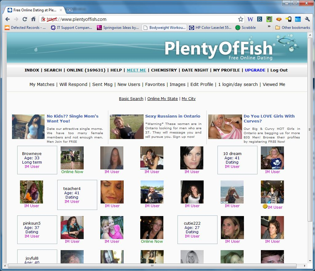 Plenty of fish - Free Dating site